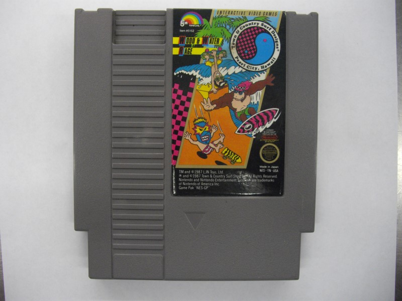 NINTENDO NES Game WOOD AND WATER RAGE