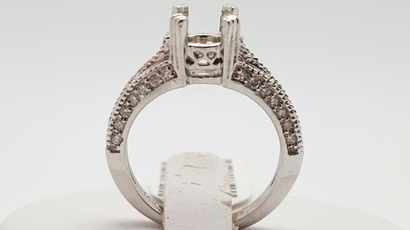 Lady's Diamond Fashion Ring 48 Diamonds .48 Carat T.W. 14K White Gold 4.5g
