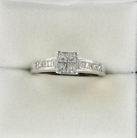 Lady's Diamond Engagement Ring 12 Diamonds .72 Carat T.W. 14K Yellow Gold 3dwt