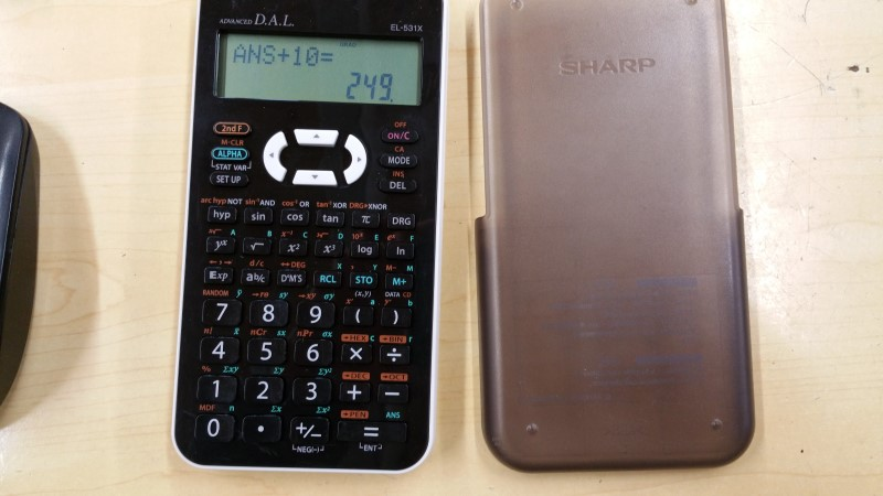 SHARP Calculator CALCULATOR EL-531X