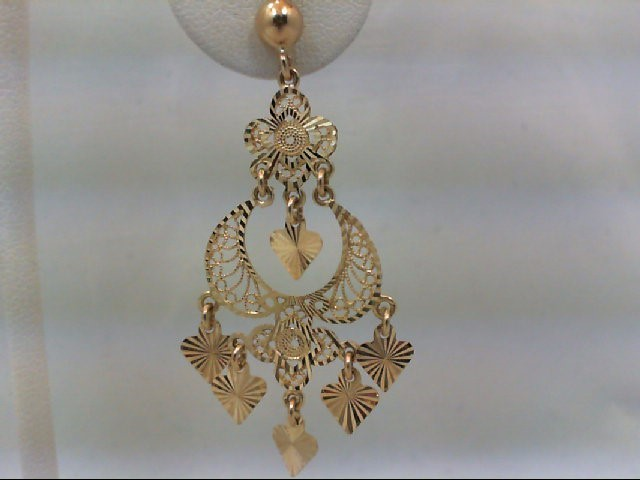 Gold Earrings 14K Yellow Gold 4.9g