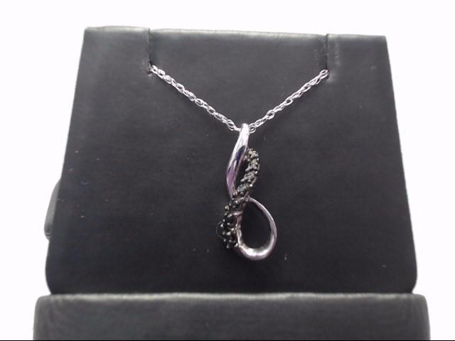 Black Stone Silver-Stone Pendant 925 Silver 2.12g