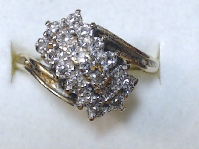 DIAMOND RING 10K  4.4G   S-9.5