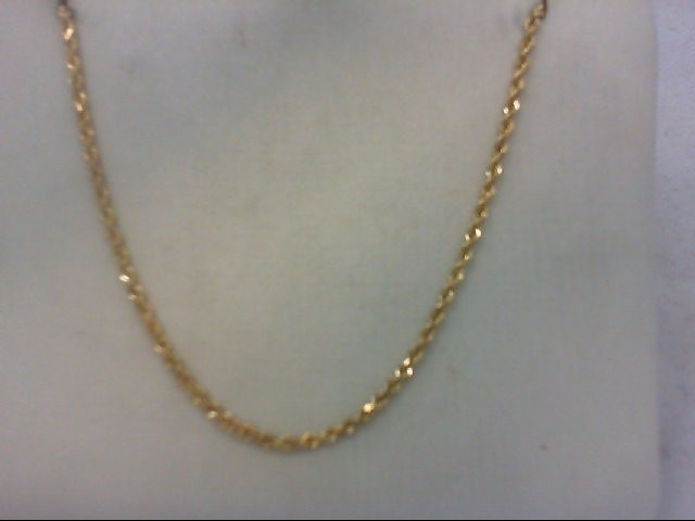 """18"""" Gold Rope Chain 14K Yellow Gold 9.3g"""