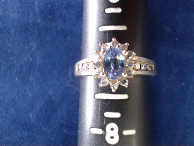 Purple Stone Lady's Stone & Diamond Ring 18 Diamonds .36 Carat T.W.
