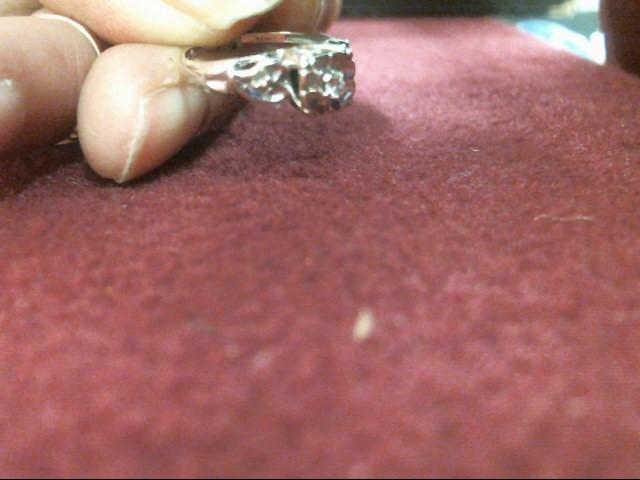 Lady's Diamond Engagement Ring .03 CT. 14K White Gold 1.5dwt