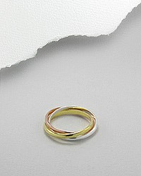 Lady's Silver Ring 925 Silver 3g Size:6