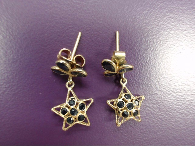 Gold Star Earrings 14K Yellow Gold 1.68g