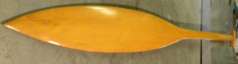 YELLOW CEDAR PADDLE.COASTAL NATIVED CARVED PADDLE. KELP STYLE.