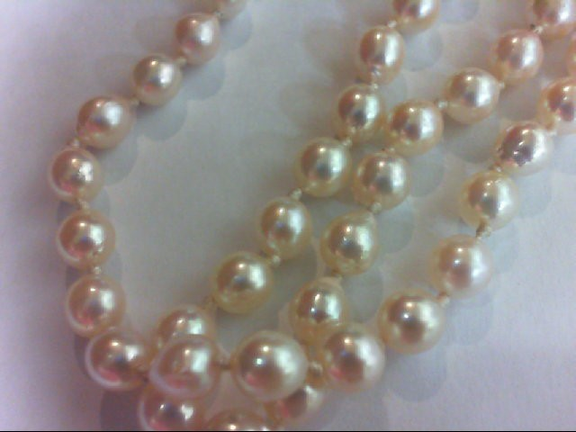 Synthetic Pearl Stone Necklace 14K Yellow Gold 14.3g