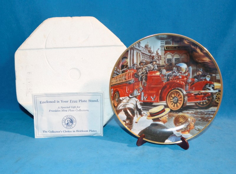 FRANKLIN MINT Collectible Plate THE 1922 AHRENS-FOX