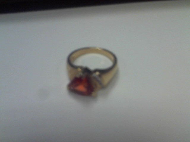 Lady's Diamond Fashion Ring 4 Diamonds .04 Carat T.W. 18K Yellow Gold 3.1dwt