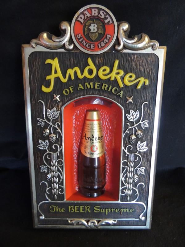 PABST ANDEKER BEER SIGN LIGHT