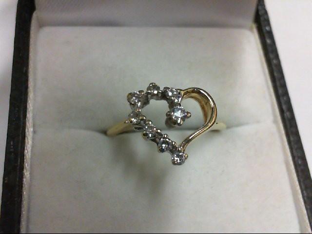 Lady's Diamond Cluster Ring 8 Diamonds 0.19 Carat T.W. 14K Yellow Gold 2g
