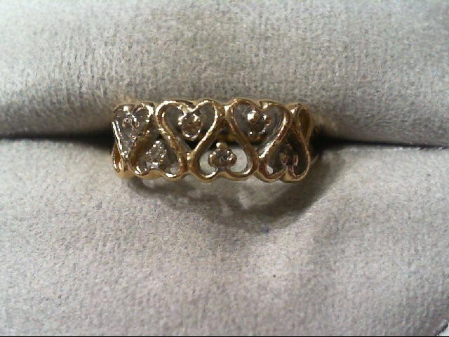 Lady's Diamond Wedding Band 6 Diamonds .12 Carat T.W. 14K Yellow Gold 2g