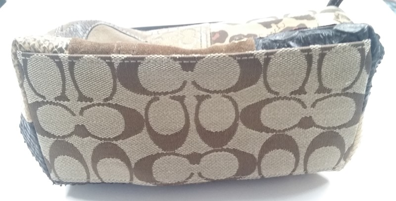 "COACH ""PATCHWORK"" TOP HANDLE HANDBAG, GOODCONDITION, LIMITED WEAR. FREE SHIPPING"