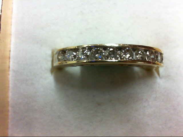 Lady's Diamond Wedding Band 10 Diamonds 0.4 Carat T.W. 10K Yellow Gold 2.8g