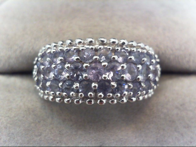 Tanzanite Lady's Stone Ring 10K White Gold 3.6g