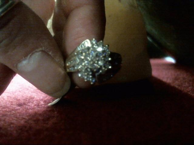 Lady's Diamond Cluster Ring 45 Diamonds .68 Carat T.W. 10K Yellow Gold 3.4dwt