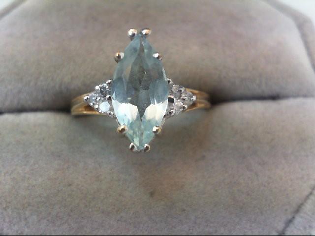 Lady's Diamond Fashion Ring 6 Diamonds .12 Carat T.W. 10K Yellow Gold 2.6g