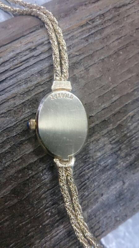 CYMA Lady's Wristwatch WATCH 14K & diamonds
