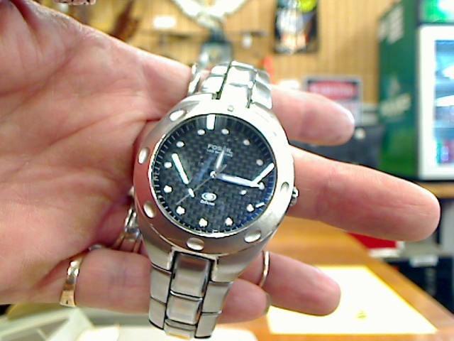 FOSSIL Gent's Wristwatch AM3287 BLUE MENS
