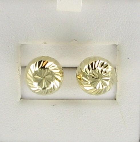 Gold Earrings 10K Yellow Gold 1.3dwt
