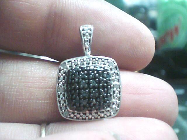 Silver-Diamond Pendant 22 Diamonds .110 Carat T.W. 925 Silver 1.4dwt