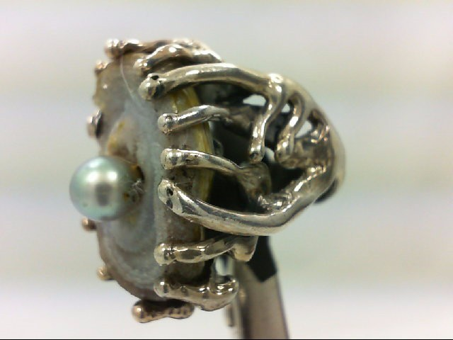 Lady's Silver Ring 925 Silver 16.3g Size:5.5