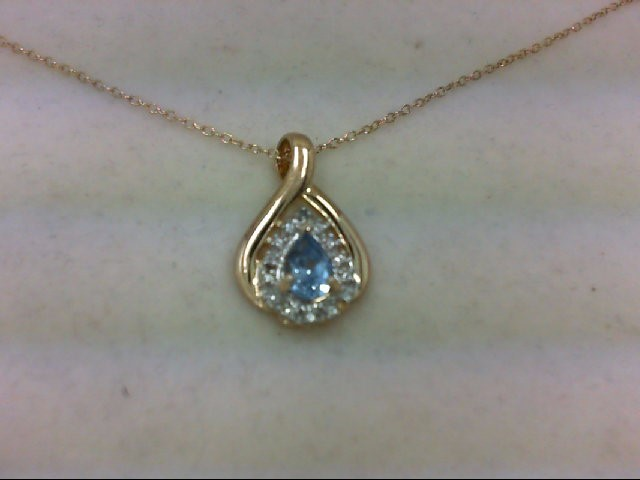 Synthetic Blue Stone Silver-Stone Pendant 925 Silver 3g