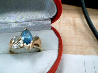 BLUE STONE 10KYG 2.7 G