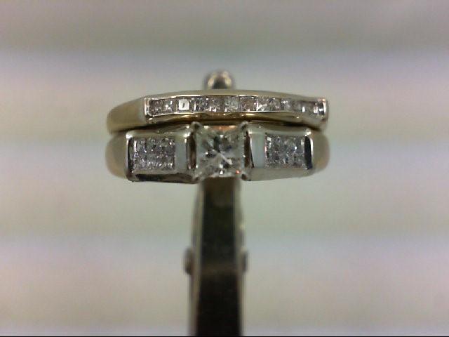 Lady's Diamond Wedding Set 30 Diamonds .49 Carat T.W. 14K White Gold 5.23g