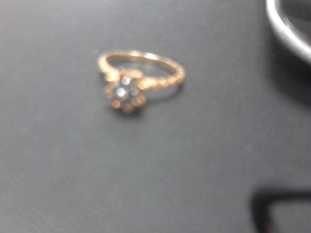 Blue Stone Lady's Stone Ring 10K Yellow Gold 2.2g
