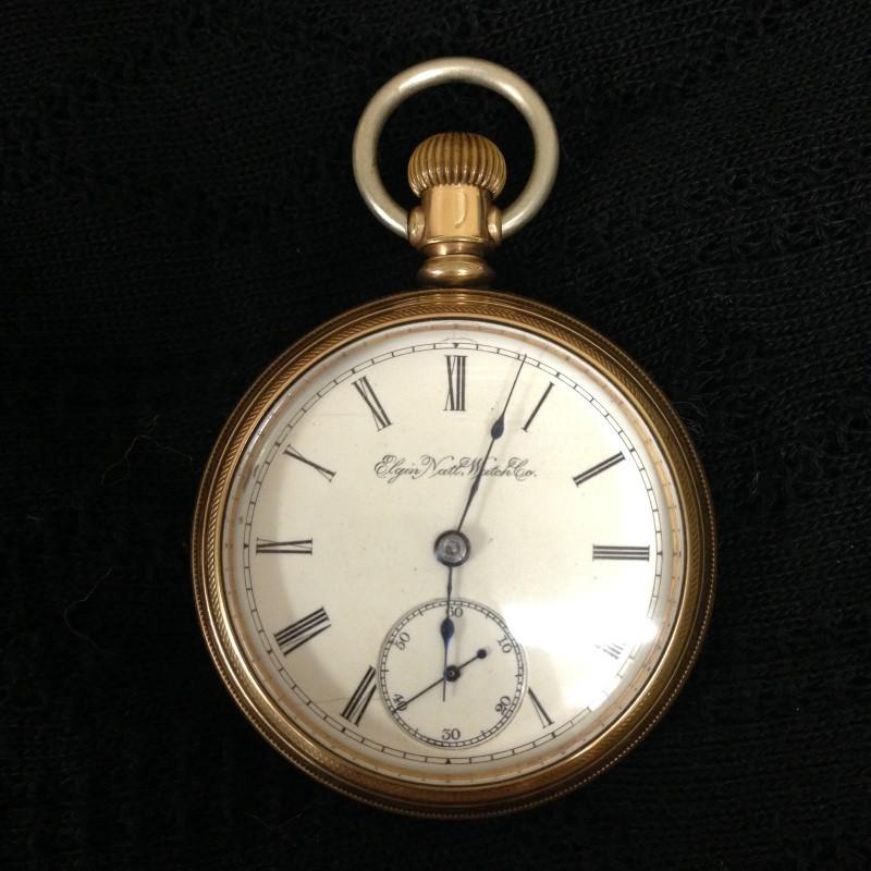 EXCELLENT CONDITION 1895 ANTIQUE ELGIN POCKETWATCH