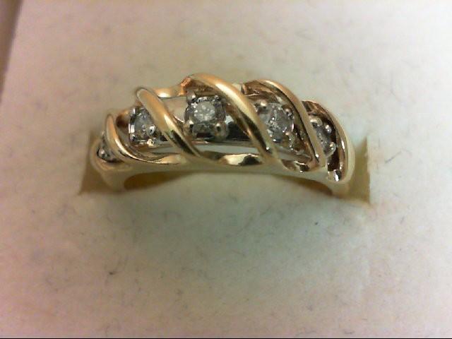 Lady's Gold-Diamond Anniversary Ring 5 Diamonds 0.25 Carat T.W. 14K Yellow Gold