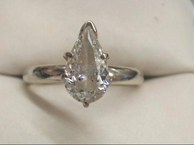 Lady's Diamond Engagement Ring 1.25 CT. 14K White Gold 3.2g Size:8.8