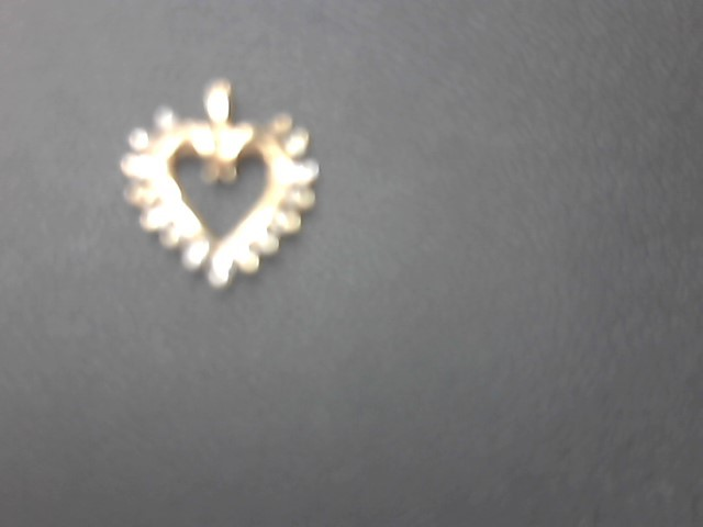 Gold-Multi-Diamond Pendant 15 Diamonds .075 Carat T.W. 10K Yellow Gold 1.2g