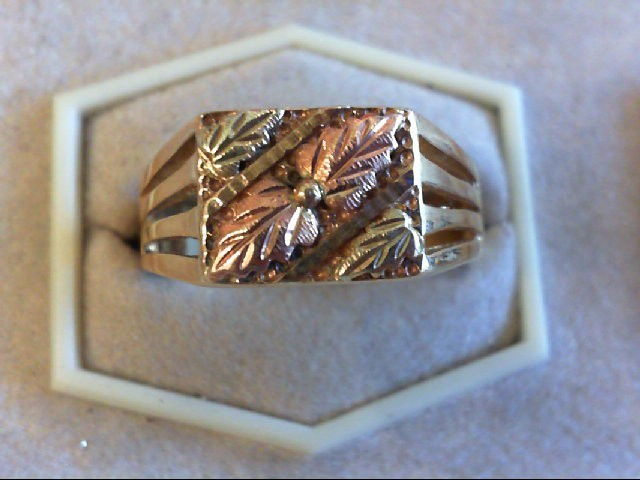 Lady's Gold Ring 10K 2 Tone Gold 7.2g Size:11.5