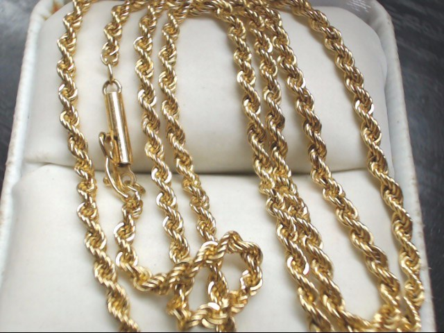 "18"" Gold Rope Chain 14K Yellow Gold 7.8g"