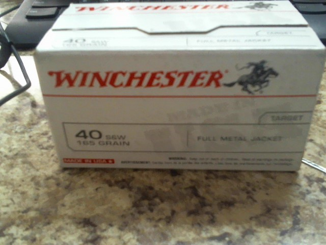 WINCHESTER Ammunition .40 S&W 165GR FMJ 100RND VALUE PACK