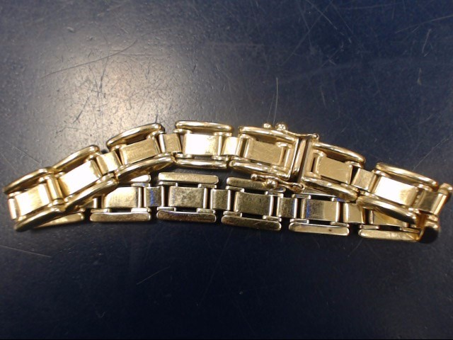 Gold Link Bracelet 14K Yellow Gold 13.16dwt