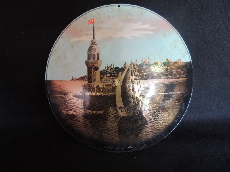 KIZ KULESI Maidens Tower Istanbul Tin Wall Decoration