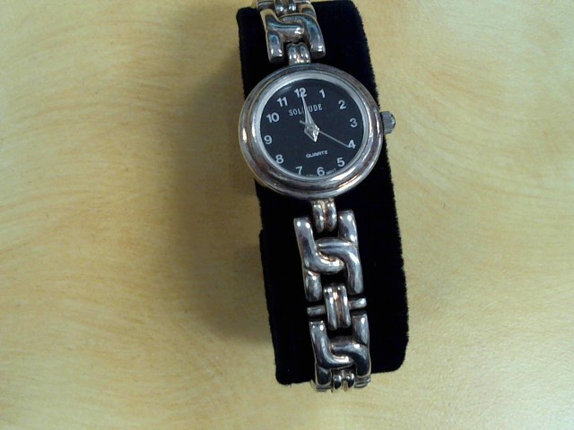 925 STERLING SILVER SOLITUDE LDS WATCH 10""