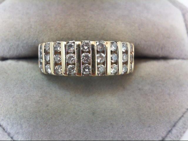 Lady's Diamond Wedding Band 33 Diamonds 1.32 Carat T.W. 14K Yellow Gold 5.9g