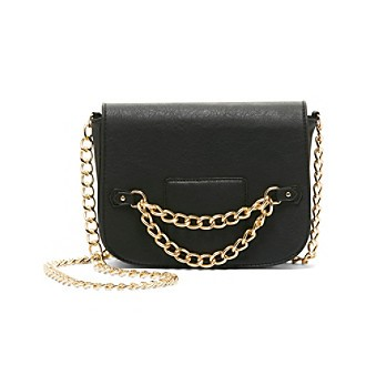 RAMPAGE BLACK LEATHER CHAIN CROSSBODY