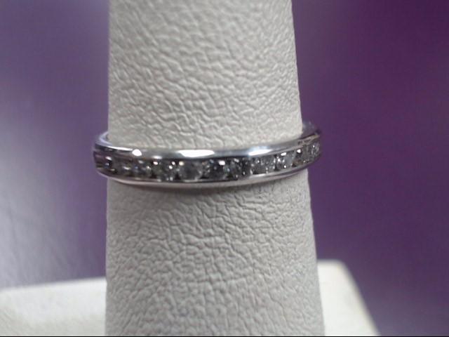 Lady's Diamond Wedding Band 12 Diamonds .24 Carat T.W. 14K White Gold 1.79g