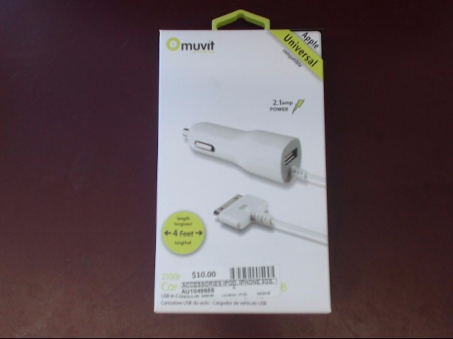 IPOD/MP3 Accessory IPOD, IPHONE 3GS, 4, 4S, WALL CHARGER