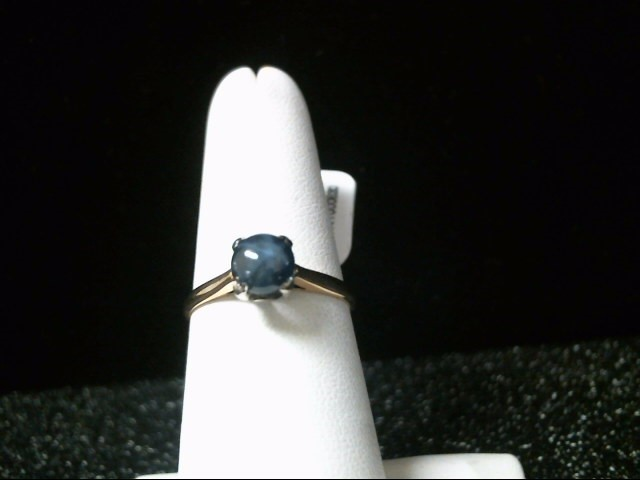 Blue Stone Lady's Stone Ring 14K Yellow Gold 1.8g Size:7