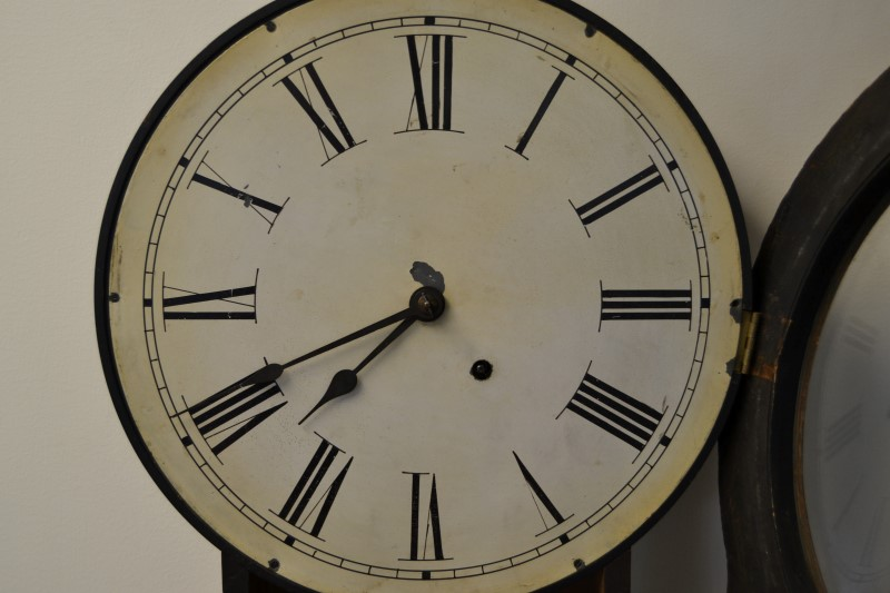 Antique Seth Thomas Hanging Office Calendar Wall Clock c. Late 1800s