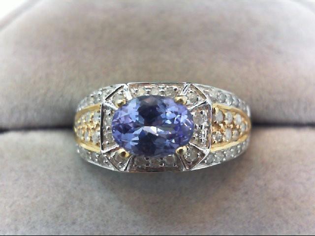 Lady's Diamond Fashion Ring 50 Diamonds .50 Carat T.W. 14K 2 Tone Gold 3.2g
